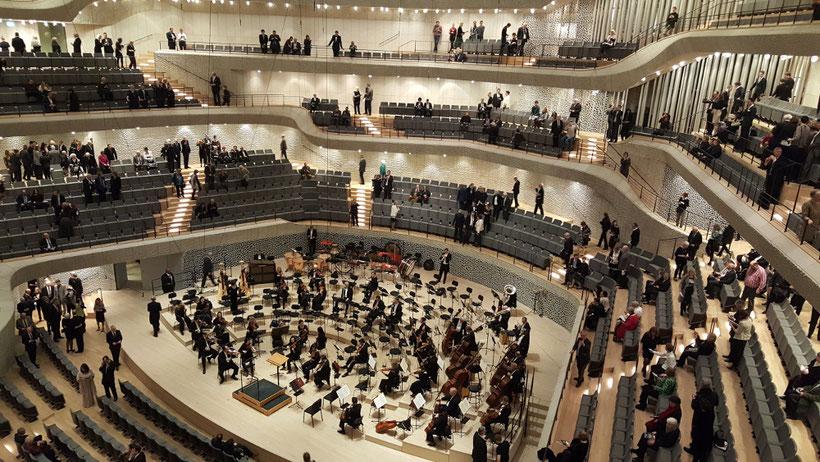 Der große Saal der Elbphilharmonie Hamburg