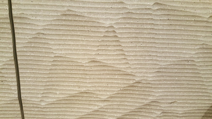 """Die Wandverkleidung """"weiße Wand"""" im Großen Saal der Elbphilharmonie in Hamburg"""