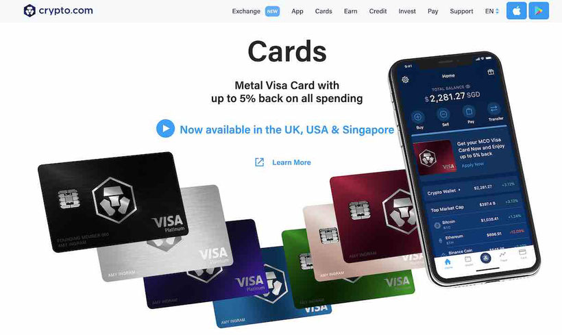 crypto-com carta visa prepagata