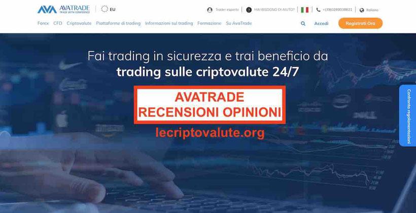 avatrade recensioni opinioni trading criptovalute