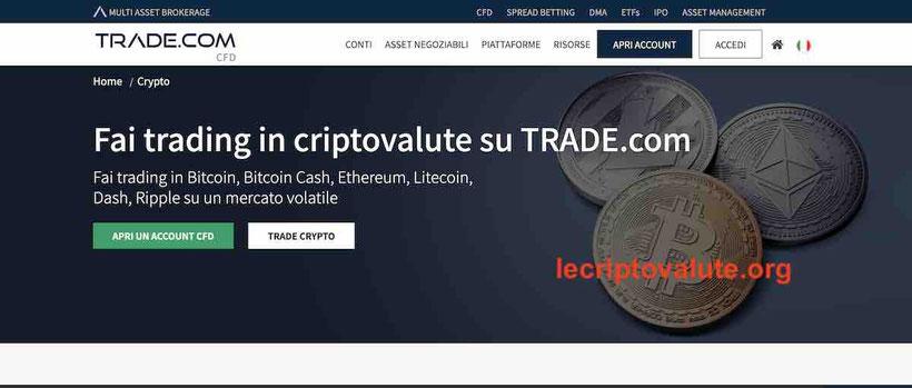 trade.com recensioni opinioni trading criptovalute guida corso commissioni