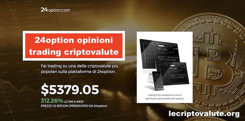 24option criptovalute trading come funziona opinioni recensioni
