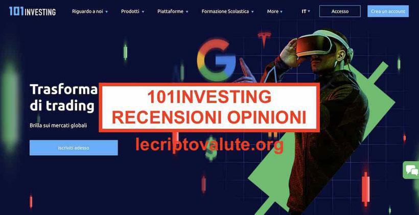 101Investing recensioni opinioni truffa Trading Italia