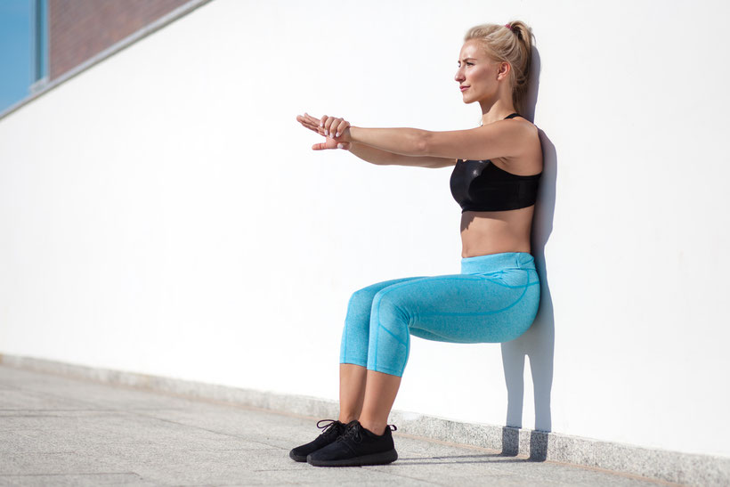 core exercises wall sit