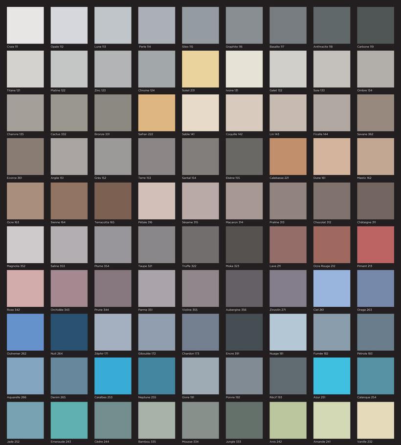 palette des couleurs beton cire bordeaux plafonds tendus chapes fluides. Black Bedroom Furniture Sets. Home Design Ideas