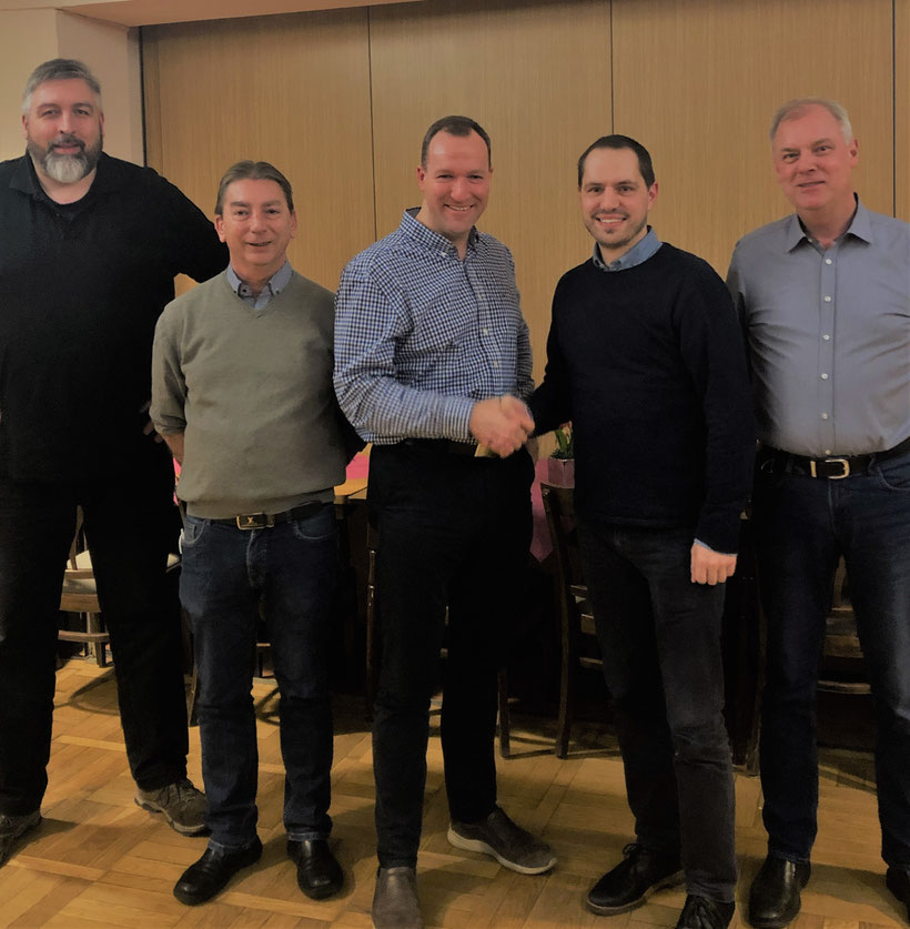 v.l.n.r.: Christoph Rohling, Thomas Leugner, Marc Würfel-Elberg, Jan-Christoph Borghorst, Ralf Kunicke   Foto: Doris Hebben