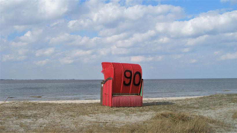 Ferienwohnung Sonnenhook, Wangerland, Hooksiel, Sandstrand, Strandkorb inklusive