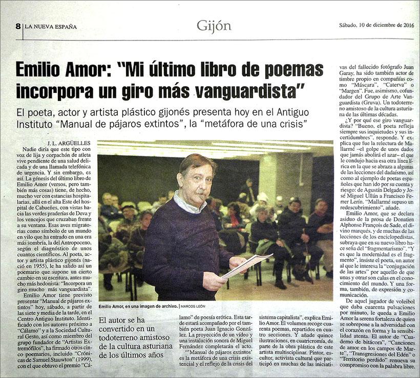Manual de pájaros extintos - Emilio Amor