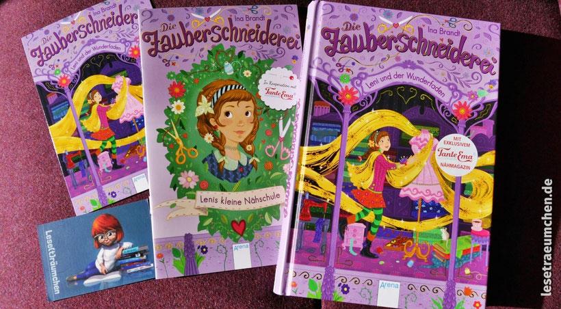 Ina Brandt Die Zauberschneiderei Rezension Kinderbuch Leseträumchen Nähschule Blog Kinderbuchblog