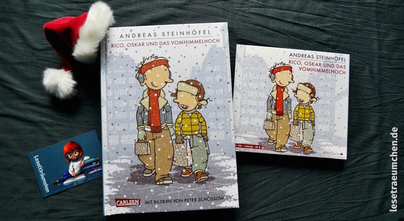 (c) Cover: Carlsen Verlag, Zeichnung: Peter Schössow Andreas Steinhöfel Rico, Oskar und das Vomhimmelhoch Rezension Leseträumchen Kinderbuch