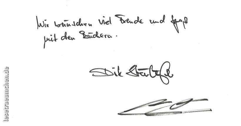 Andreas Pflitsch Dirk Steinhöfel Irgendwo in der Tiefe gibt es ein Licht Irgendwo brennt ein Feuer im Eis Arena Sachbuch Rezension Widmung Signatur