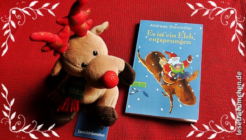 Andreas Steinhöfel Es ist ein Elch entsprungen Rezension Kinderbuch Weihnachten Leseträumchen Carlsen