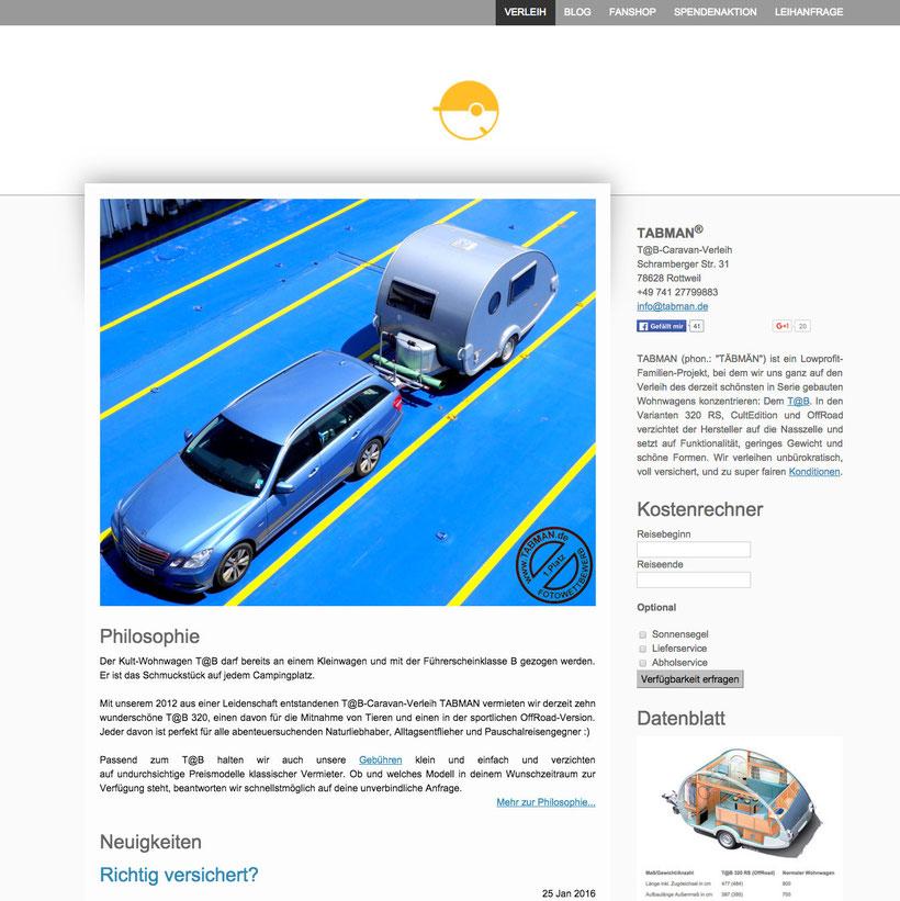 Website im neuen Design - ©TABMAN