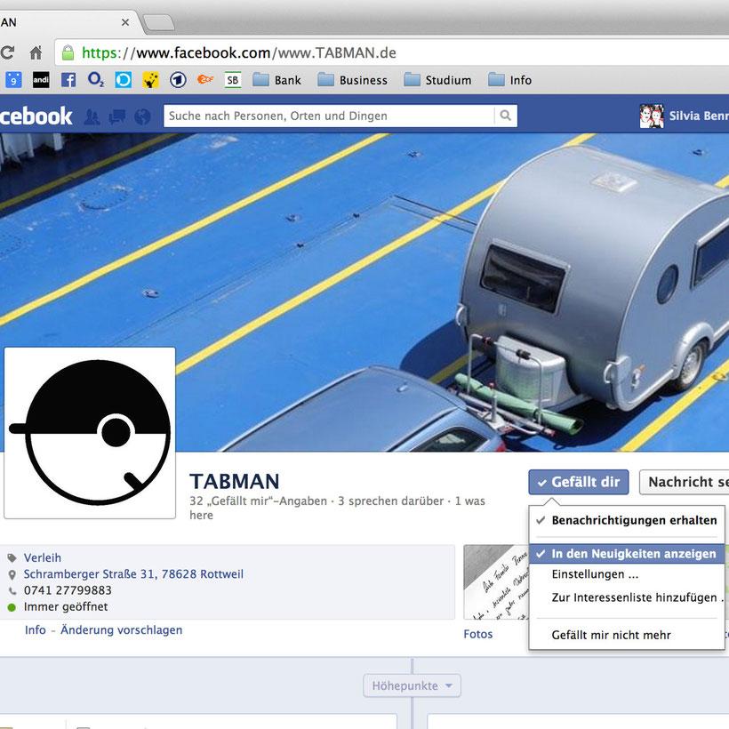 So richtet ihr Facebook für TABMAN ein - ©TABMAN