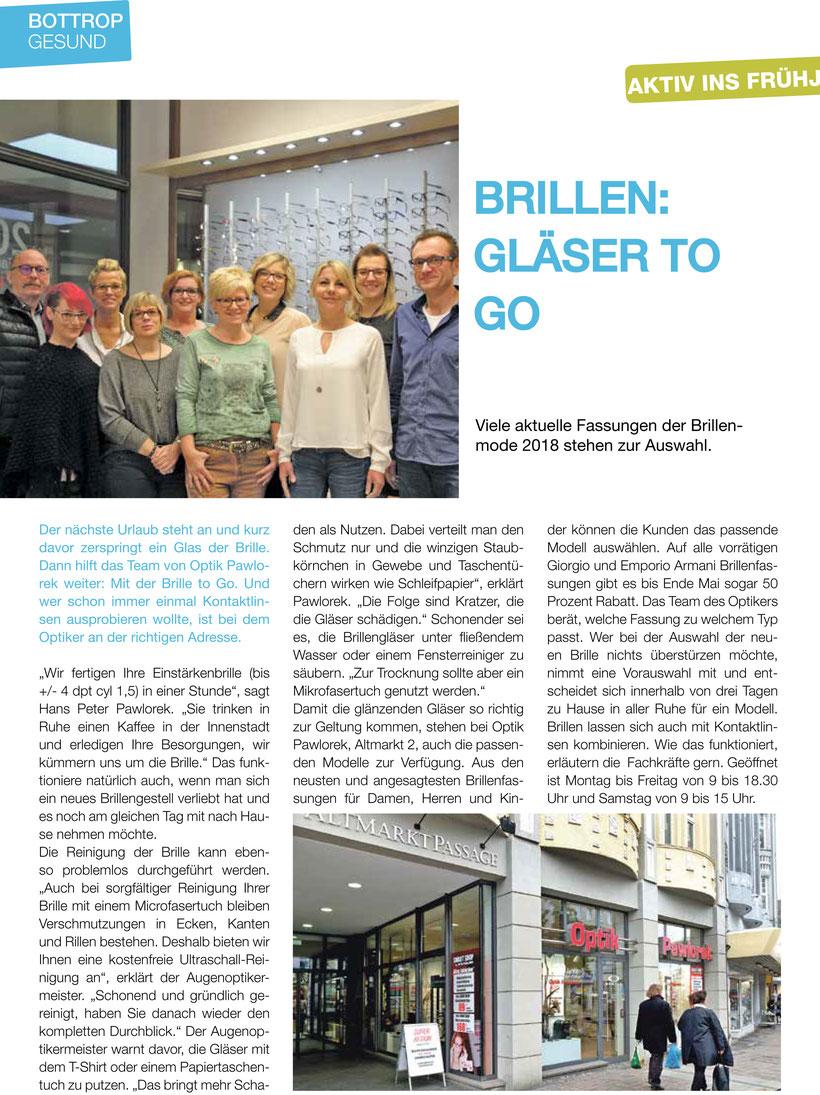 BRILLEN: GLÄSER TO GO - Gesundheit in Bottrop