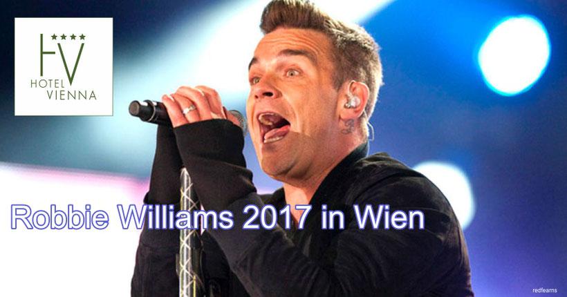 Robbie Williams 2017 in Wien - Hotel Vienna, 1020 Wien, Große Stadtgutgasse 31, www.hotelvienna.at - Nähe Ernst Happel Stadion - mit öffentlichen Verkehrsmittel einfach und schnell erreichbar