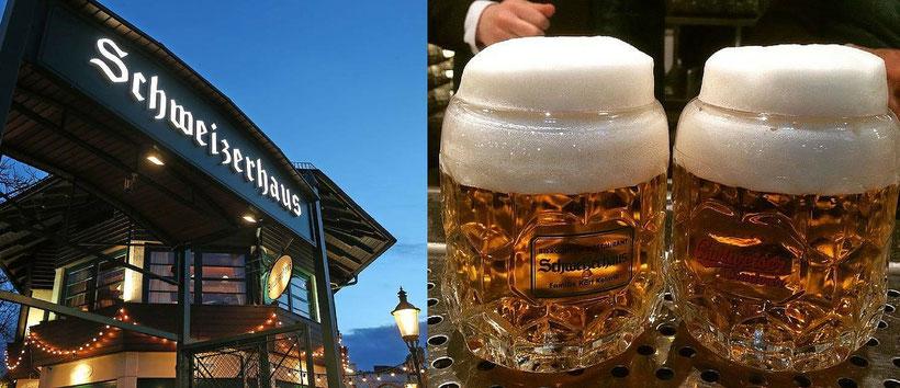 Booking Vienna empfiehlt den Biergarten Schweizerhaus. Hotel Urania jetzt schon buchen, Hotel Empfehlung buchen Sie günstige Hotels in Wien