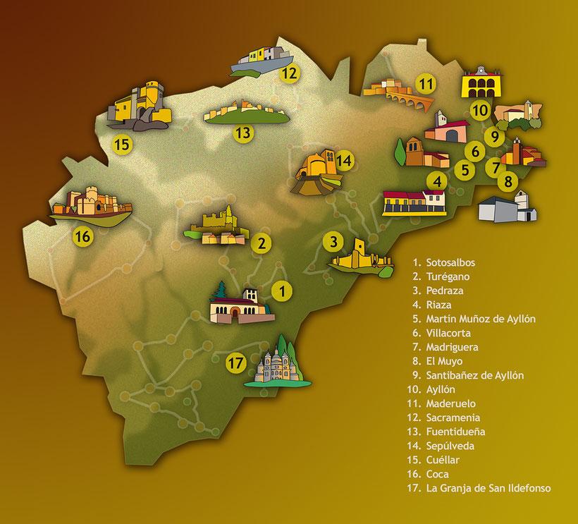 Pueblos con encanto de la provincia de Segovia