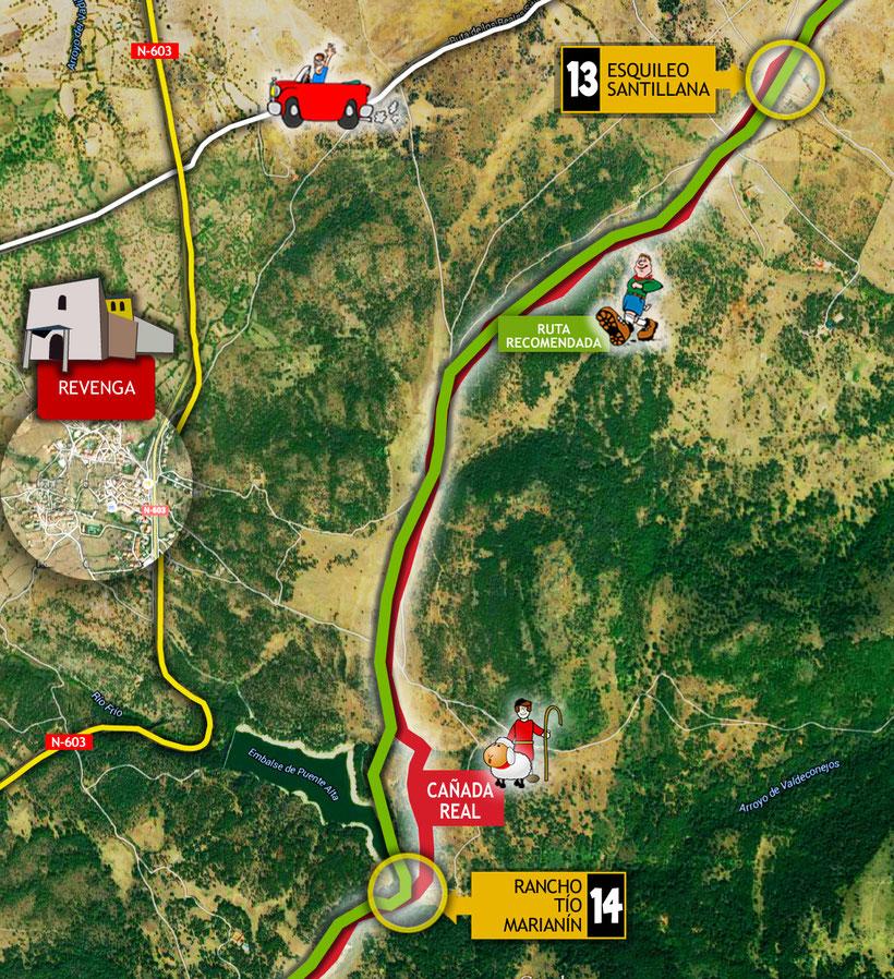 Ruta del Esquileo. Tramo 13: Esquileo Santillana - Revenga