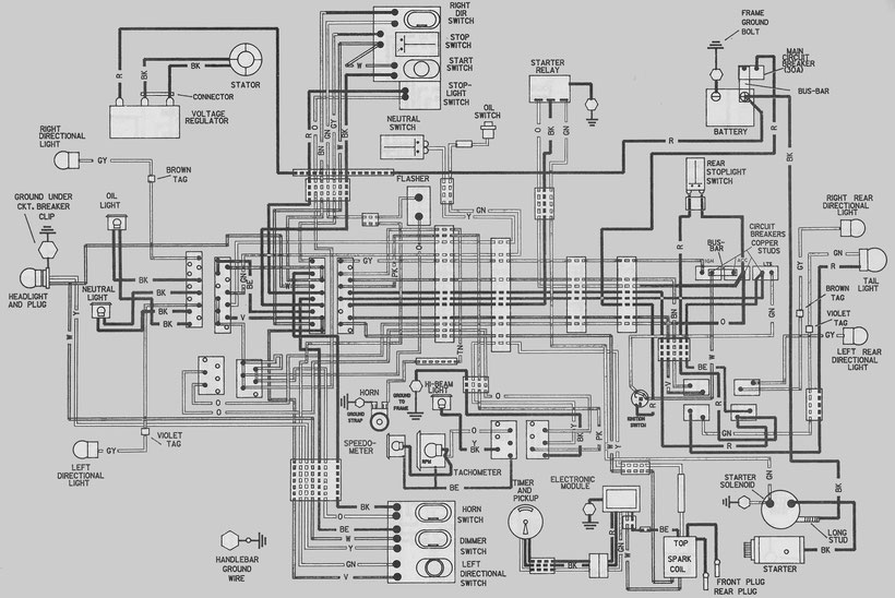 HARLEY DAVIDSON FX Wiring Diagrams - Car Electrical Wiring ... on