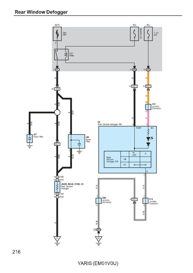 Toyota Yaris Wiring Diagrams