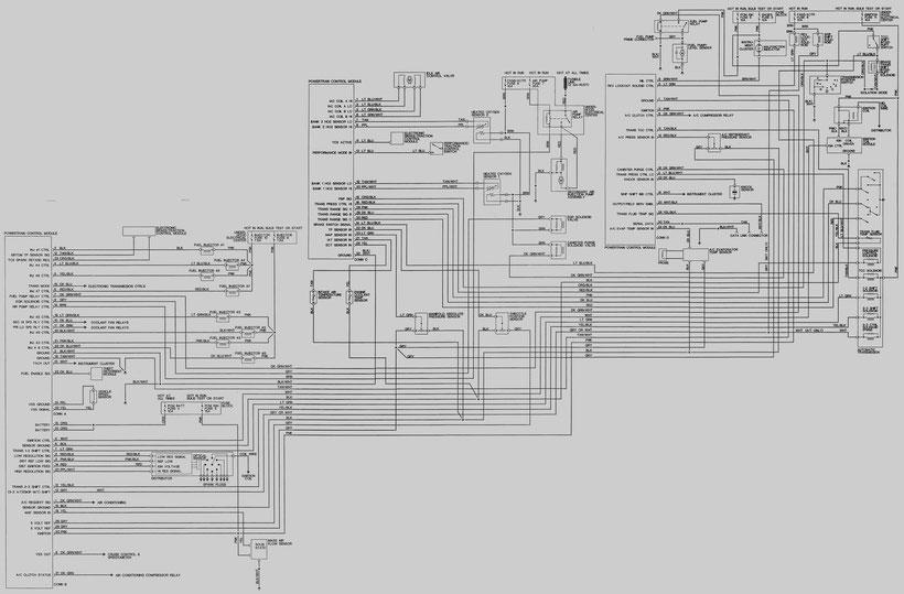 1993-1994 camaro control circuit diagram of the engine 5,7l