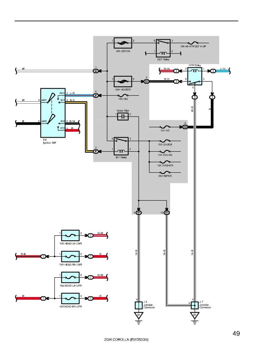 Toyota Corolla Wiring Diagrams Car Electrical Wiring Diagram