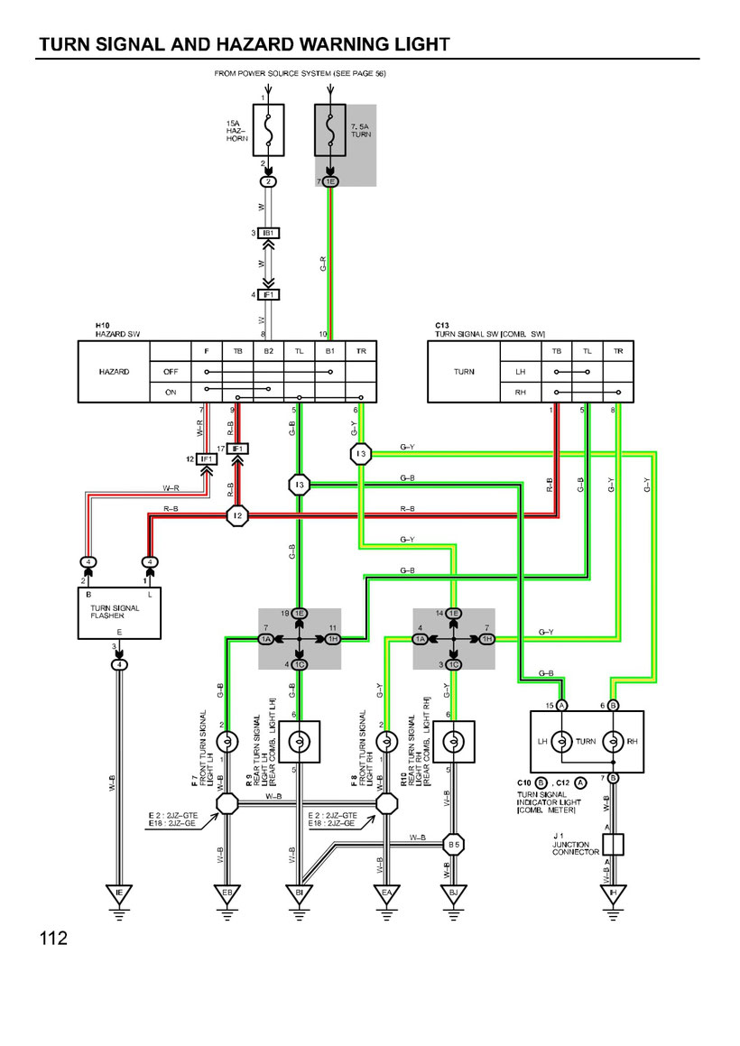 TOYOTA SUPRA Wiring Diagrams - Car Electrical Wiring Diagram on hazard relay diagram, hazard switch diagram, hazard safety,