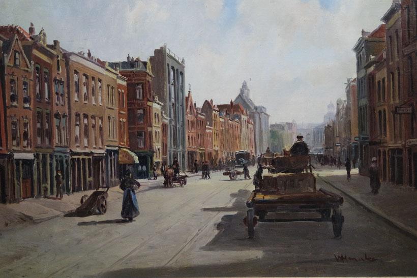 te_koop_aangeboden_een_schilderij_van_de_kunstschilder_wilhelmus_hendrikus_heinecke_1895-1978)_rotterdams_stadsgezicht