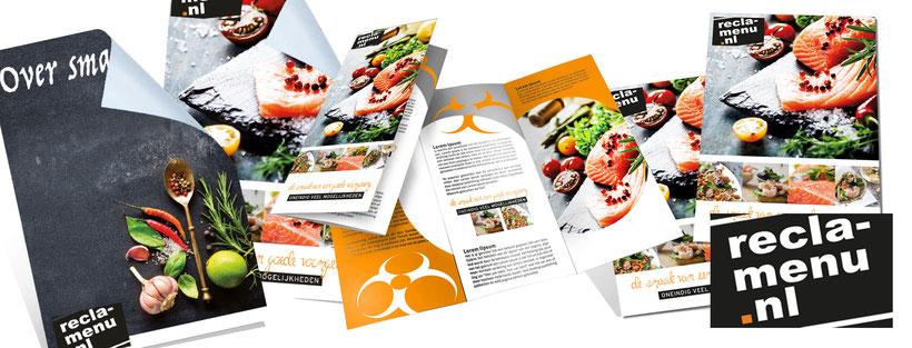 reclame vormgeving reclamenu banner vormgeving DTP ontwerp fullservice reclameburo amersfoort folder briefpapier catalogus van laer flyer