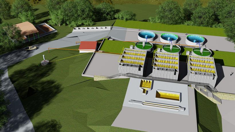 UASB reactor 3D design - El Salvador
