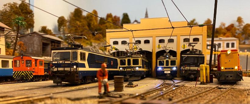 Bemo lokomotiven schmalspurbahn schmalspurlok h0m modellbahn centovallibahn