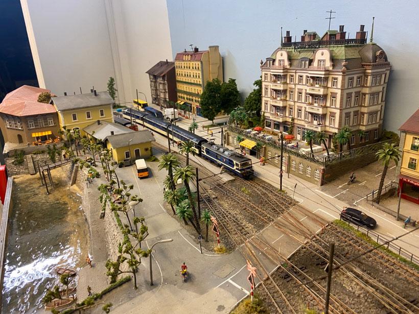 Lacorno Stazione, LagoMaggioreExpress, Schmalspurmodell, Centovallimodell, H0m, Bemo Modellbahn