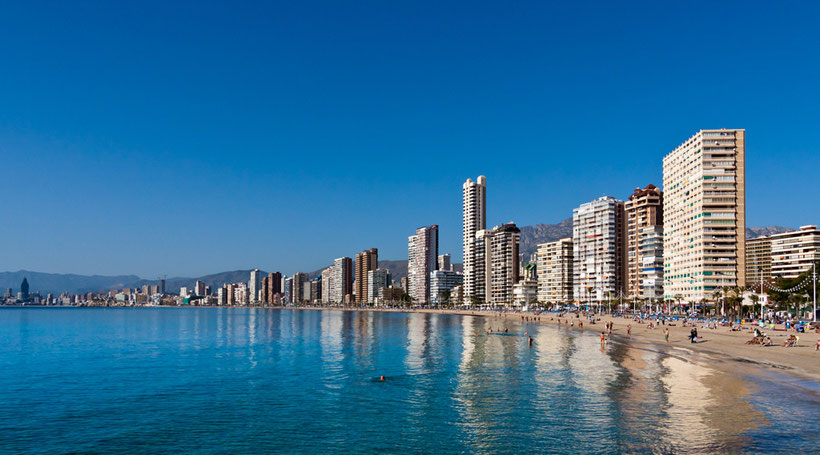 benidorm playa levante