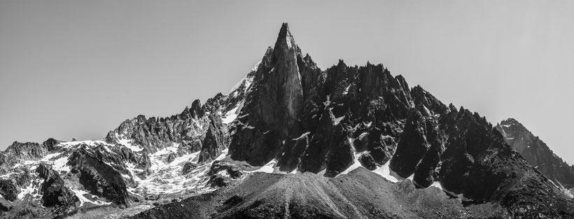 les drus aiguille verte montagne panoramique alpes
