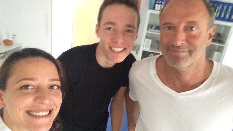 Das Praxis-Trio mit Maddalena und Achim