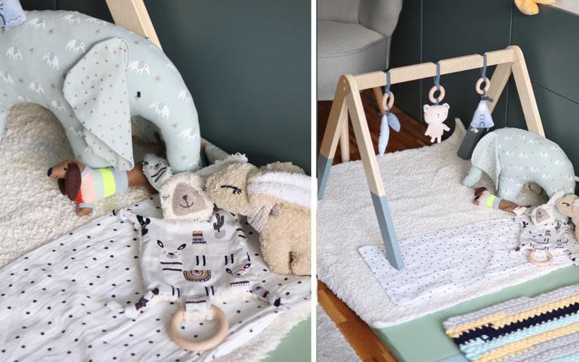 Roomtour, Babyzimmer: Einrichtung und DIYs für unsere Babyecke inkl. Babybett, Wickelkommode und Spielecke fürs Baby. DIYs und selbstgenähte Accessoires und Kleidung. Anleitung und Inspiration von DIY Eule.