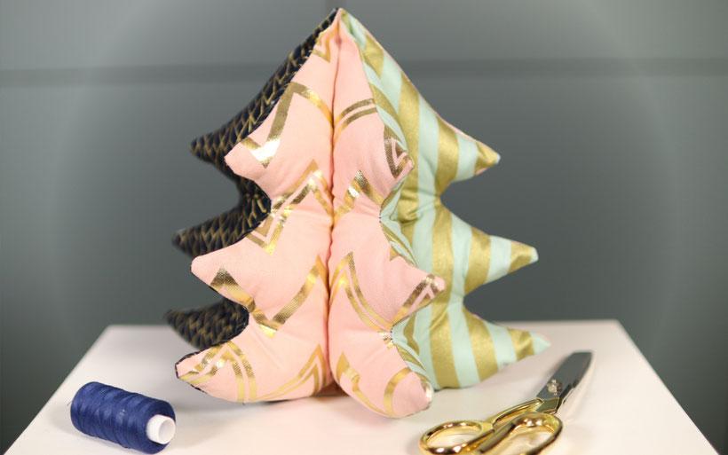 Weihnachtsbaum nähen DIY Eule