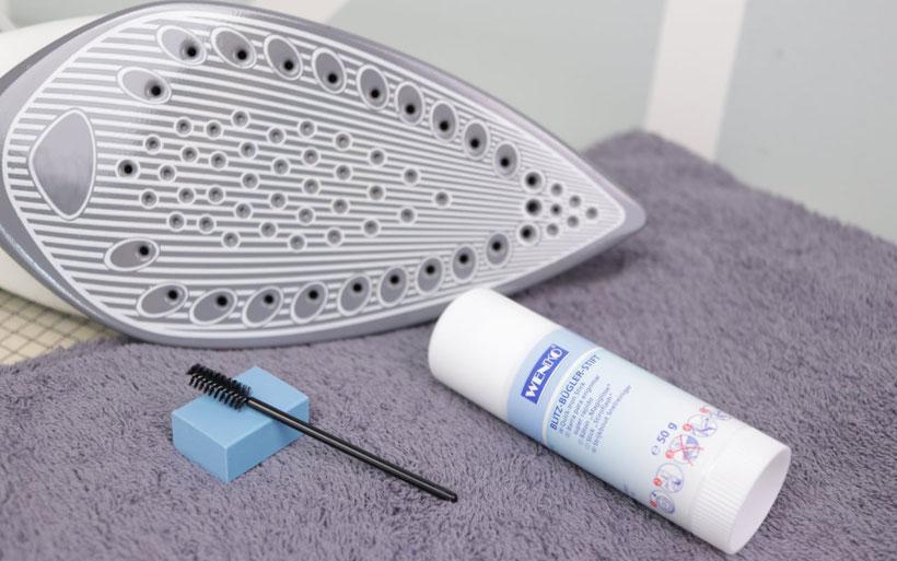 [Werbung] Perfekte Helfer beim Nähen und Wasche - Näh-Gadgets: Fusselrolle, Bügeleisen-Reiniger, Wäsche Regal und Zauberkugel. Perfekt zur Stoffpflege beim Nähen. Must-Have für jeden. Ideen von DIY Eule.