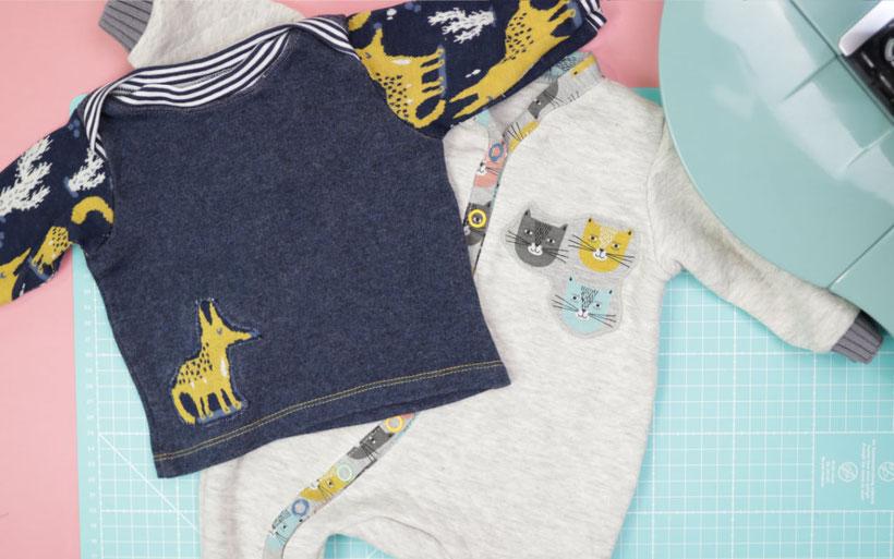Applikation auf Jersey nähen mit Stretchfix - perfekt für Kinderkleidung, Löcher und Flicken. Nähanleitung von DIY Eule.