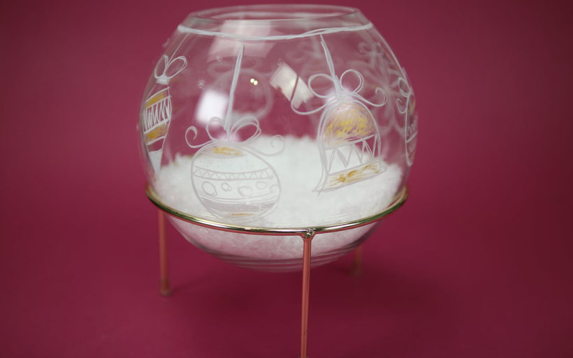 [Werbung] Weihnachtsdekoration: Glas bemalen aus dem Bastelset DIY Weihnachten von Stabilo – Anleitung von DIY Eule