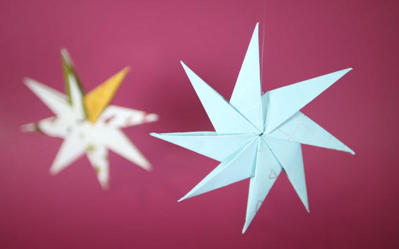 [Werbung] Weihnachtssterne basteln und bemalen aus dem Bastelset DIY Weihnachten von Stabilo – Anleitung von DIY Eule