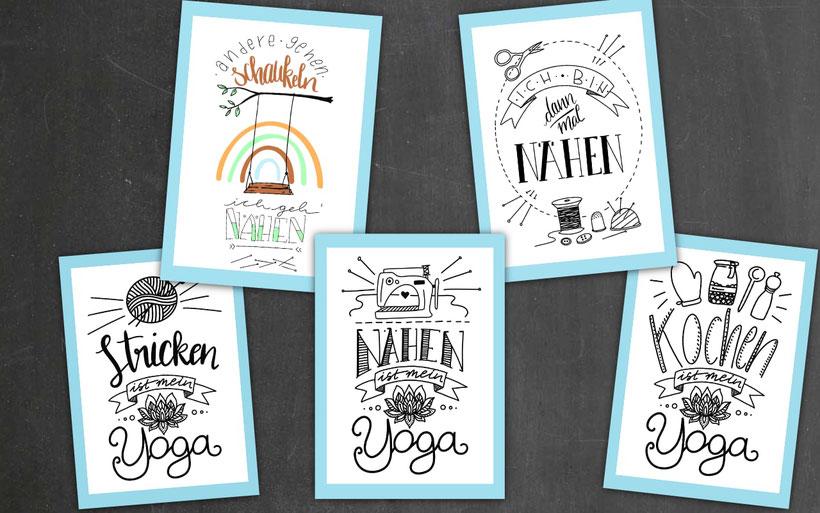 [Werbung] Handletterings fürs Nähzimmer gestalten mit kostenlosen Vorlagen – mit dem Snaply Chalky Kreativset Poster gestalten . Anleitung von DIY Eule.