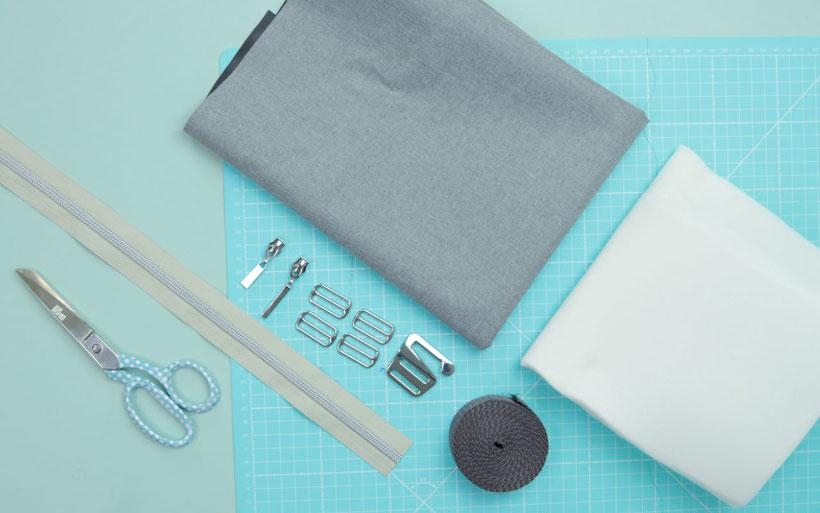 #RolltopRonja aus dem #DIYeuleBuch –Rolltop Rucksack nähen aus Outdoorstoff mit Reißverschluss. Schnittmuster und Nähanleitung von DIY Eule.