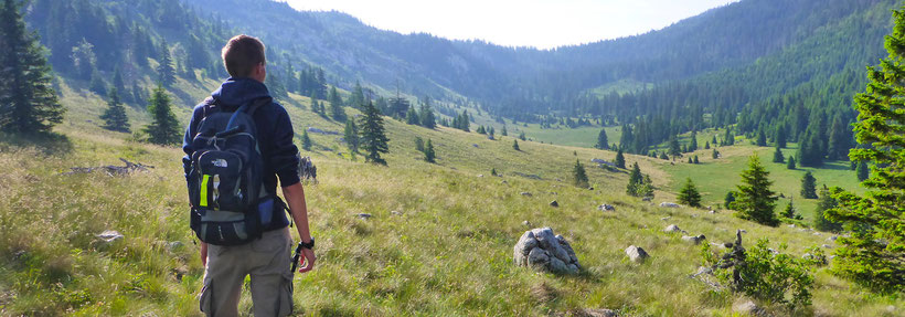 Exploring the green valleys of the Northern Velebit National Park