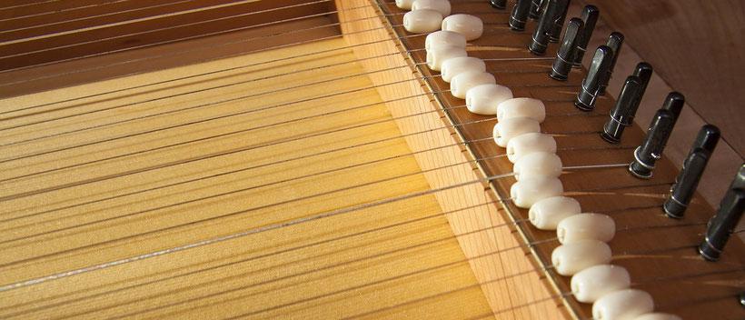 klangbett, monochord, saiten