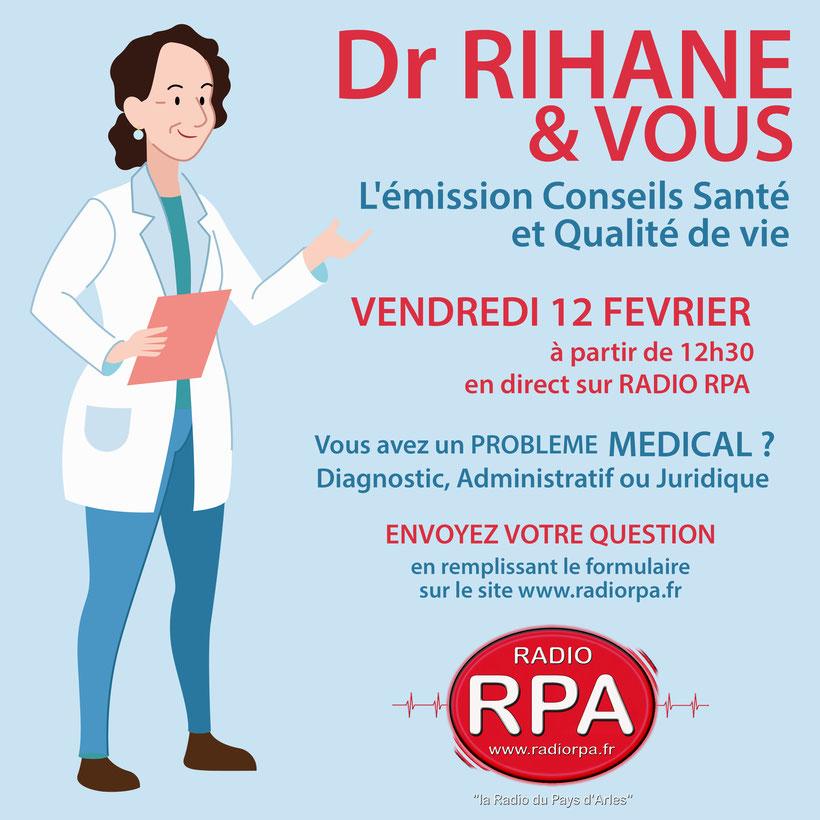 Docteur Rihane et Vous - Emission radio RPA , conseils santé et qualité de vie