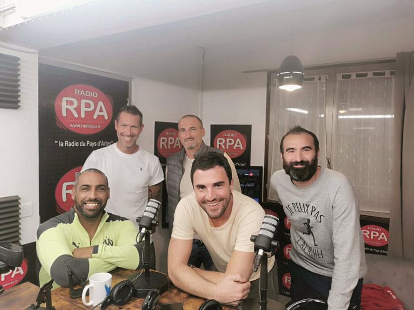 Emission Coup d'Envoi sur Radio RPA le 04-10-2021 avec le Stade Olympique Arlésien. Ludovic Gazzan, Clément Cuissard, Kamel Zhar, Olivier Simian et Romain Vigne
