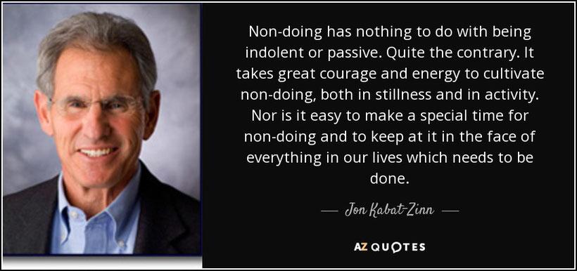 Non-doing quote