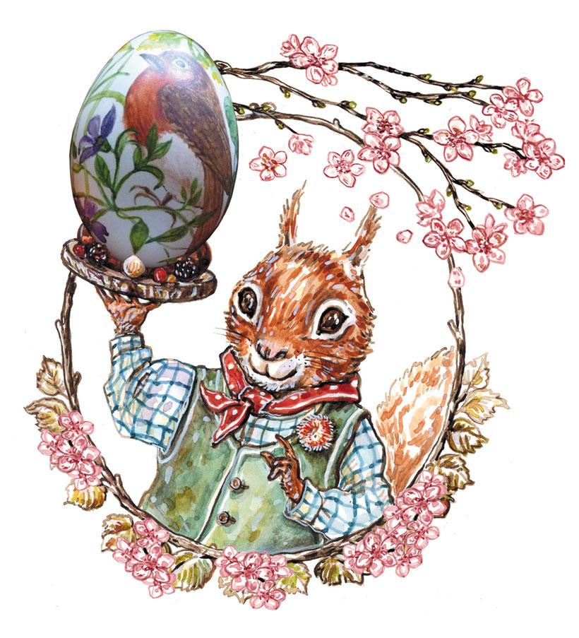 Eichhörnchen Eckhard Eilig Illustration für Annette Betz Verlag ©Caroline Ronnefeldt